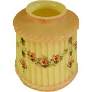 1920's Custard Glass Lamp Shade with Hand Painted Rose Swags