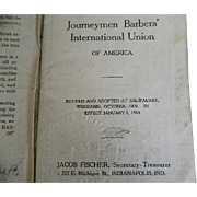 1910 Constitution and Membership Book of the Journeymen Barbers' International Union of America