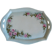 Antique Carl Tielsch Altwasser, Germany Dresser or Vanity  Small Tray, Artist Signed Anna