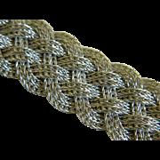 Vintage Woven 837 Silver Bracelet with Safety Bar