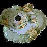 Antique Vienna Austria Porcelain Dresser or Vanity Set