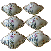 Morimura Nippon Hand Painted Salt Cellars, Set of 6