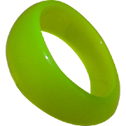 Vintage Neon Green Celluloid Bangle Bracelet