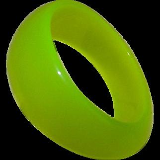 Vintage Neon Green Celluloid Bangle Bracelet