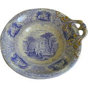 Rare  Antique 1828 JJ and Company, Scotland Bowl, Pattern Forth
