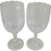 Antique Pair Celery Glasses