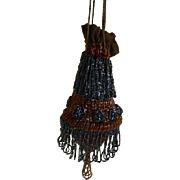 Antique Glass Beaded Purse
