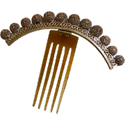 1860's Victorian Hinged Brass Ball Comb