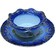 1891 until 1918 Victoria Carlsbad Austria Finger Bowl with Under Plate