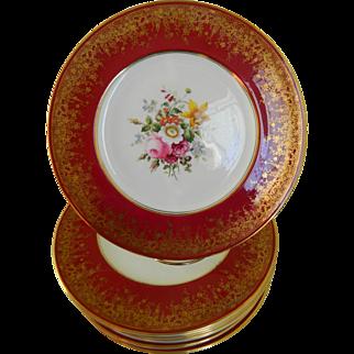 Early 20th Century Cauldon, England Plates, Set of 8