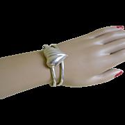 Vintage Sterling Silver Elegant Cuff Bracelet