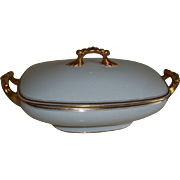 Pouyat Limoges Stunning Serving Bowl with Lid 1891-1932