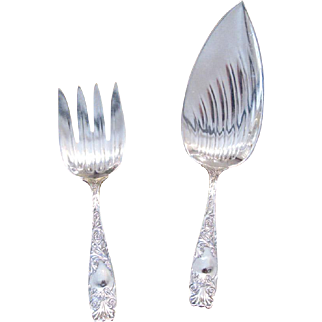 Gorham Silverplate Two-Piece Cold-Cuts Serving Set