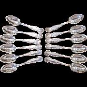 Set of Twelve Pairpoint Silverplate Teaspoons