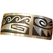 Hand-Wrought Hopi Native American Cuff Bracelet