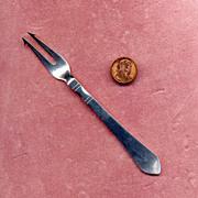 Denmark Georg Jensen Sterling Silver Olive Fork