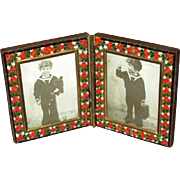 Italian Mosaic Double Table-Top Picture Frame