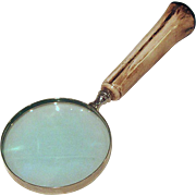 Desktop Magnifying Glass with Antler Handle