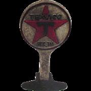 Vintage Cast Iron Doorstop with Texaco Logo