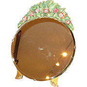 English Barbola Vanity Mirror