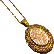 Victorian Gold-Filled Locket with Gold Top