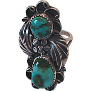 Vintage Native American Navaho Sterling & Turquoise Ring