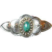 Native American Sterling Silver & Turquoise Pin