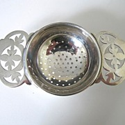 Sterling Silver Tea Strainer Made in England