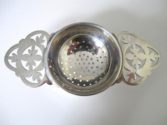 Sterling Silver Tea Strainer Made In England From