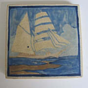Marblehead Tile with Arts & Crafts Period Frame