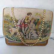 Austrian c1900 Long Stitch Embroidered Purse Exquisite