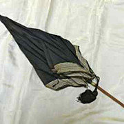 Antique  Green Jasperware Wedgwood Handled Silk Umbrella ca. 1895-1905