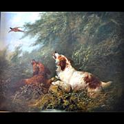 Spaniels Flushing A Pheasant, Attrib George Armfield