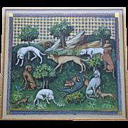 Le Livre De La Chasse 1387. Set of 7 Prints