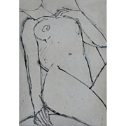 Figure by John Emanuel British 1933-. Limited edition etching