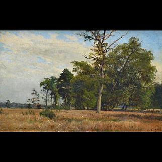 Wooded Landscape by George Engelhardt German 1823-1883