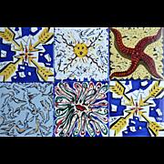 6 Dali Maurice Duchin Tiles. 1954
