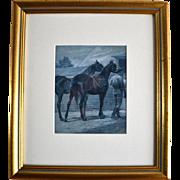 Warhorse by Richard Caton Woodville 1856-1927 American