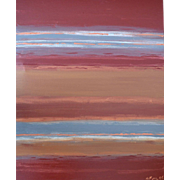 Red Earth. Abstract Oil on Canvas by Martine Barnard
