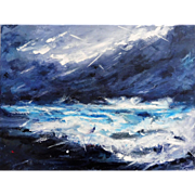 In the Storm...Just Being Acrylic On Canvas by Therese James