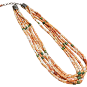 Santo Domingo Ken Aguilar Spiney Oyster Heishi Necklace