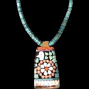 Vintage Necklace by Santo Domingo Artist Mary Lou Tafoya