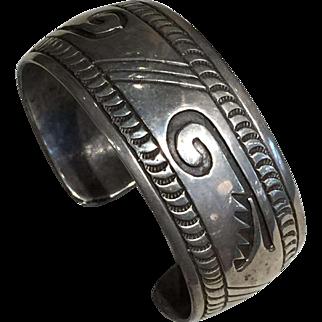 1970's Hopi Style Silver Bracelet