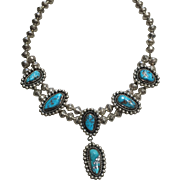 Navajo Style Choker Turquoise Necklace