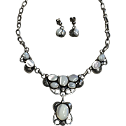 Mother of Pearl Necklace and Earring Set by Don Chee