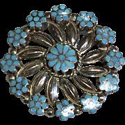 Zuni Turquoise Pin/Pendant by VM Dishta