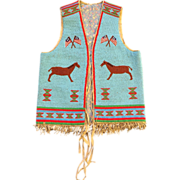 Native American Indian Style Beaded Vest