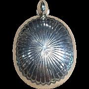 Sterling Silver Pendant in Navajo Style
