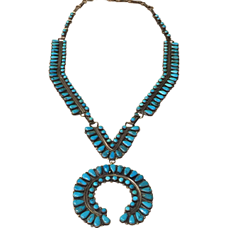 Vintage Navajo Style Turquoise Necklace