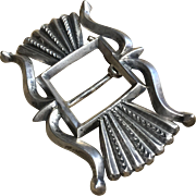 Silver Sandcast Belt Buckle